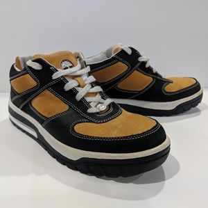 Timberland Black And Wheat Low Top Oxford Shoes